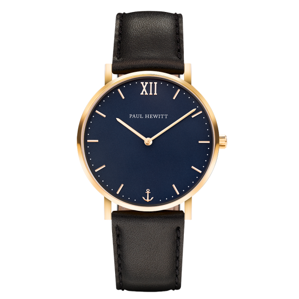 Watch Sailor Blue Lagoon Gold Leather Black