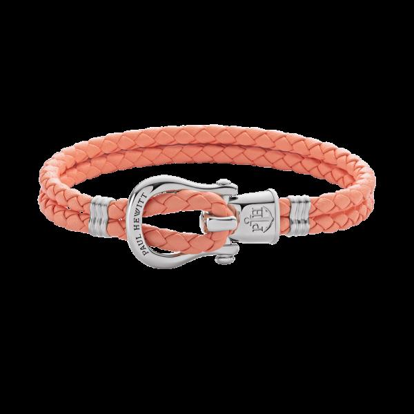 Bracelet Phinity Argenté Cuir Apricot