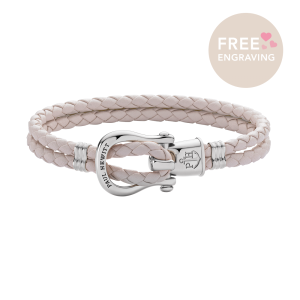 Bracelet Phinity Argenté Cuir Cherry Blossom