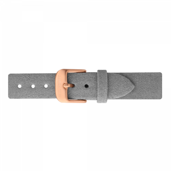 Watch Strap Alcantara Rose Gold Grey 16 mm