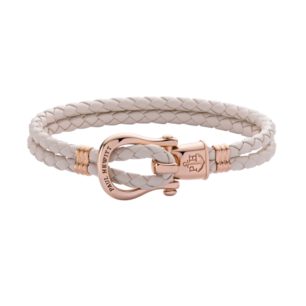 Bracelet Phinity Or Rose Cuir Cherry Blossom