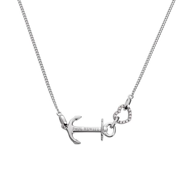 Collana Anchor Heart Argentato