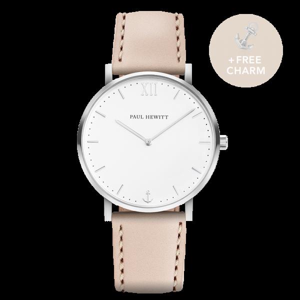 Watch Sailor White Sand Silver Leather Hazelnut