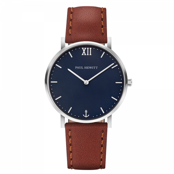 Montre Sailor Blue Lagoon Argenté Cuir Marron