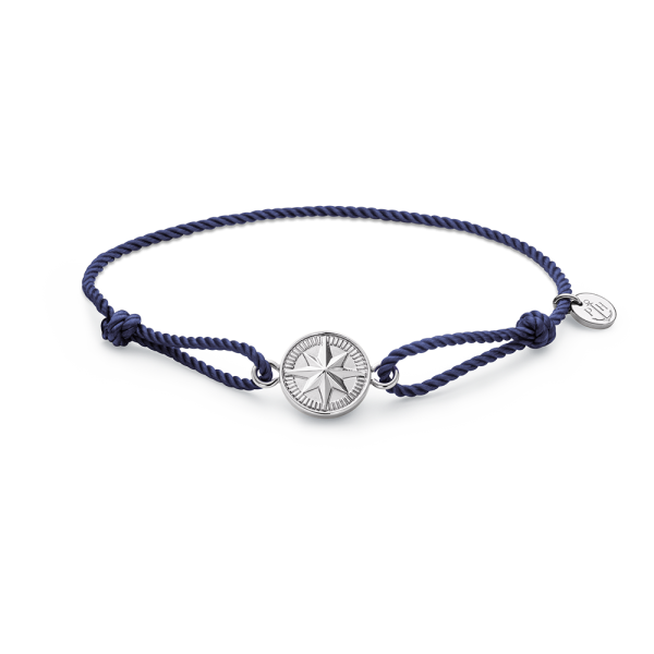 Armband Windrose Silber Navy