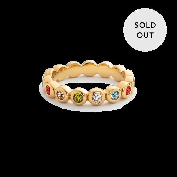 Ring Rainbow Stones Gold