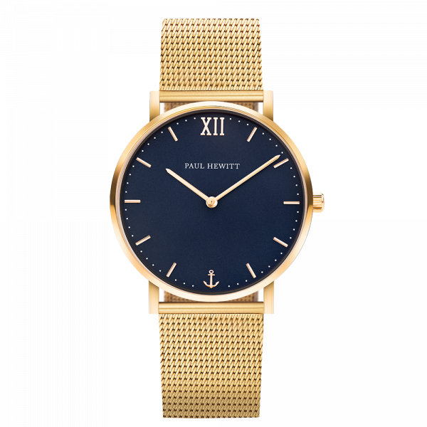 Uhr Sailor Blue Lagoon Gold Mesh