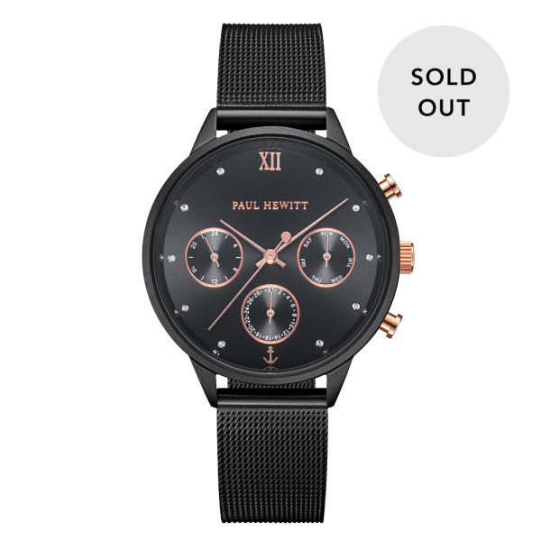 Montre Everpulse Black Sunray Noir Mesh