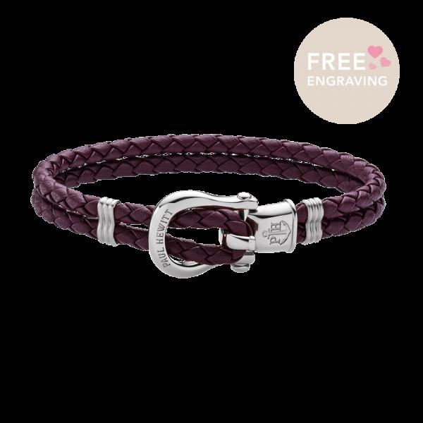 Bracelet Phinity Argenté Dark Mauve
