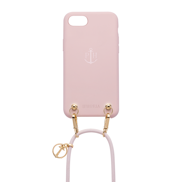 Collier Téléphone Silicone Nude