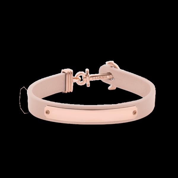 Bracelet Ancre Signum Or Rose Cuir Nude