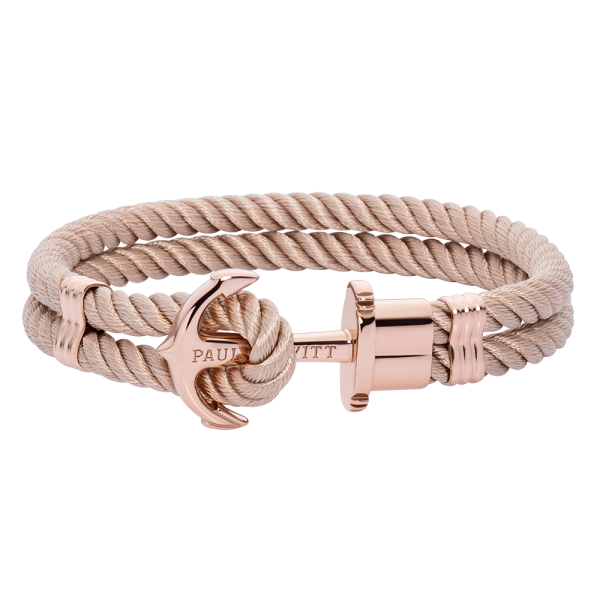 Anchor Bracelet Phrep Rose Gold Nylon Hazelnut