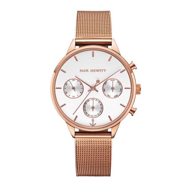 Montre Everpulse White Sand Or Rose Mesh