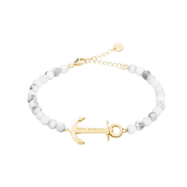 Bracelet Anchor Spirit Gold Marble