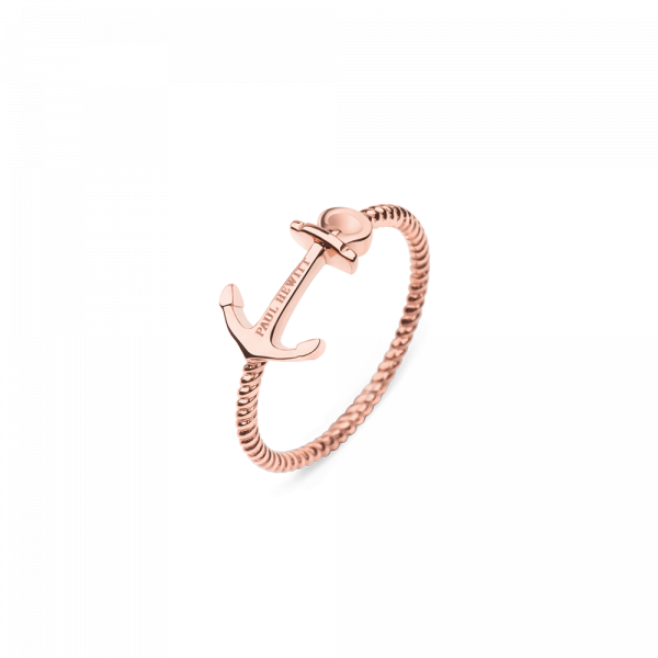 Anillo Anchor Rope Oro Rosa