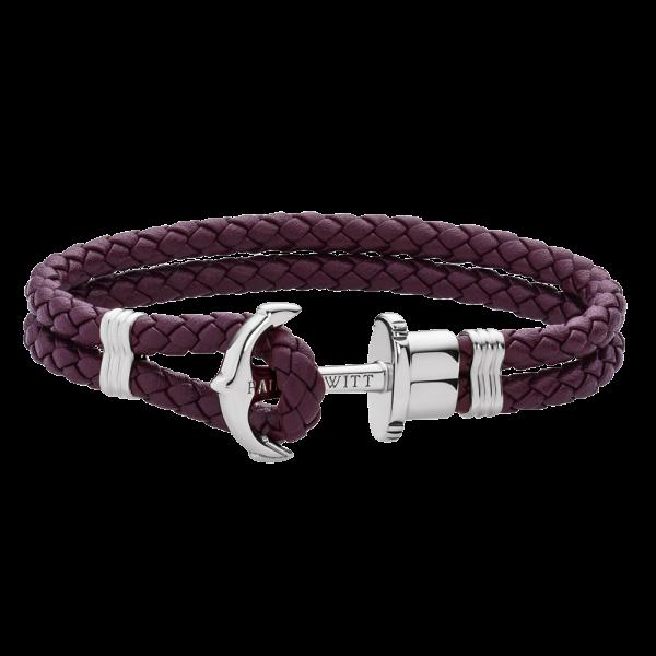 Bracelet Ancre Phrep Argenté Dark Mauve