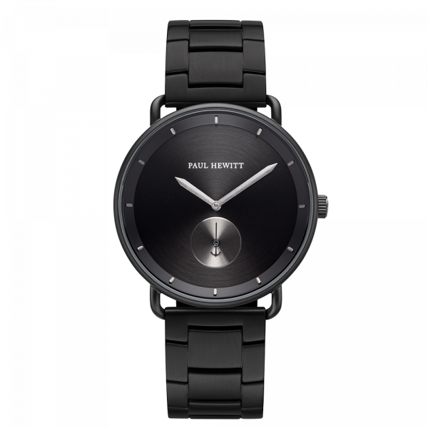 Montre Breakwater Black Sunray Noir Gun Metal Métallique Black Metal