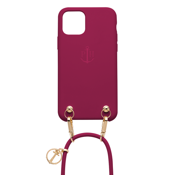 Phone Necklace Silicone Bordeaux