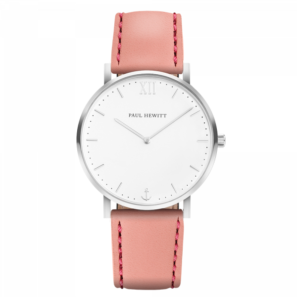 Watch Sailor White Sand Silver Leather Aurora
