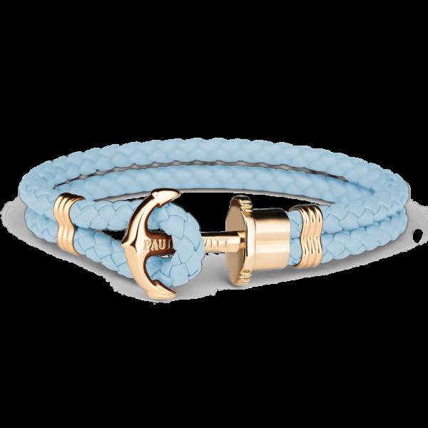 Anchor Bracelet Phrep Gold Leather Niagara