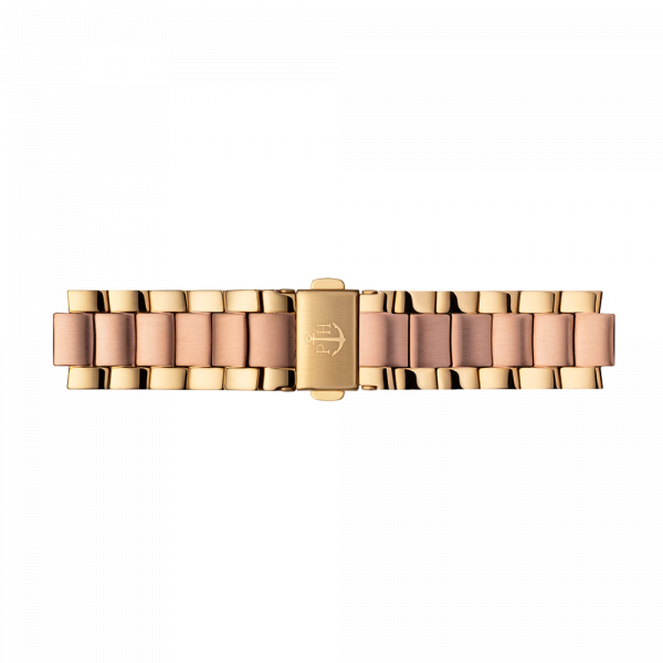 Uhrenarmband Metall Bicolor Roségold Gold 16 mm