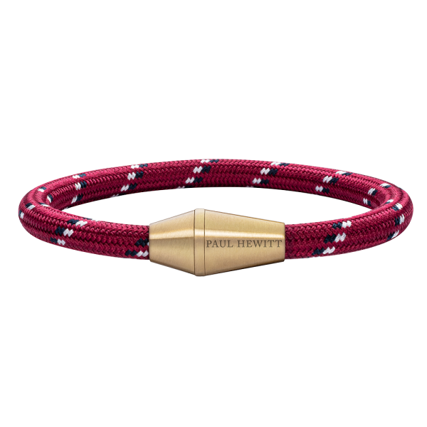 Bracelet Conic Brass Nylon Red Black White