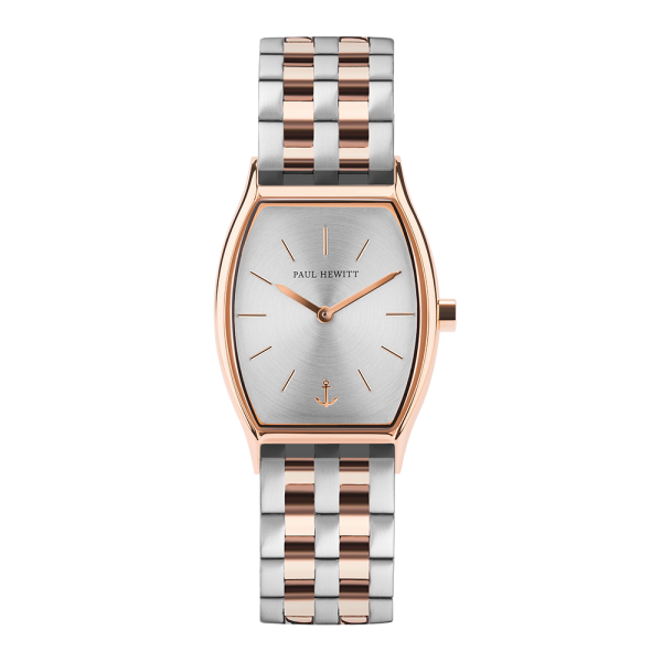 Watch Modern Edge Silver Sunray Rose Gold Metal Bicolor Rose Gold Silver