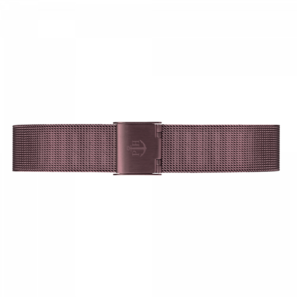Uhrenarmband Mesh Dark Mauve 16 mm