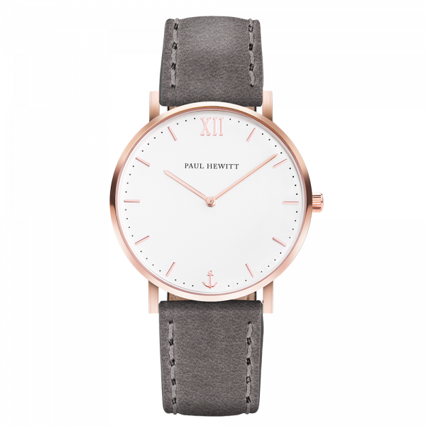 Watch Sailor White Sand Rose Gold Leather Grey