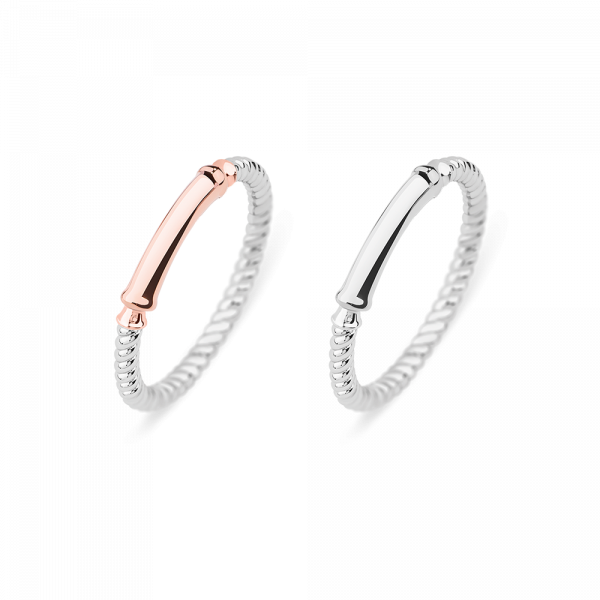 Set Perfect Match Starboard Ring Roségold und Silber