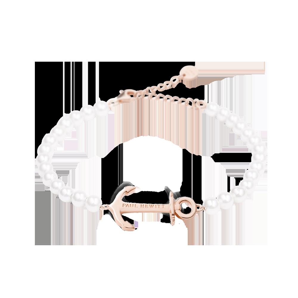 Bracelet Anchor Spirit Rose Gold Pearl