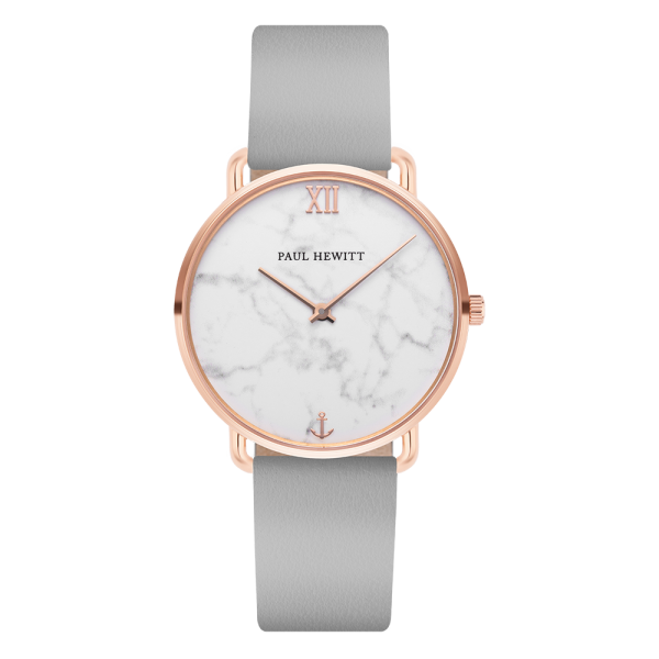Watch Miss Ocean Marble Rose Gold Leather Graphite