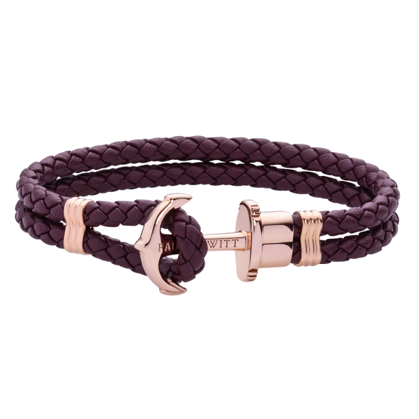 Bracelet Ancre Phrep Or Rose Dark Mauve