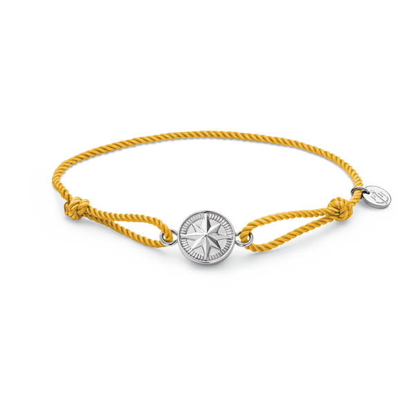 Bracelet Windrose Silver Sun Yellow