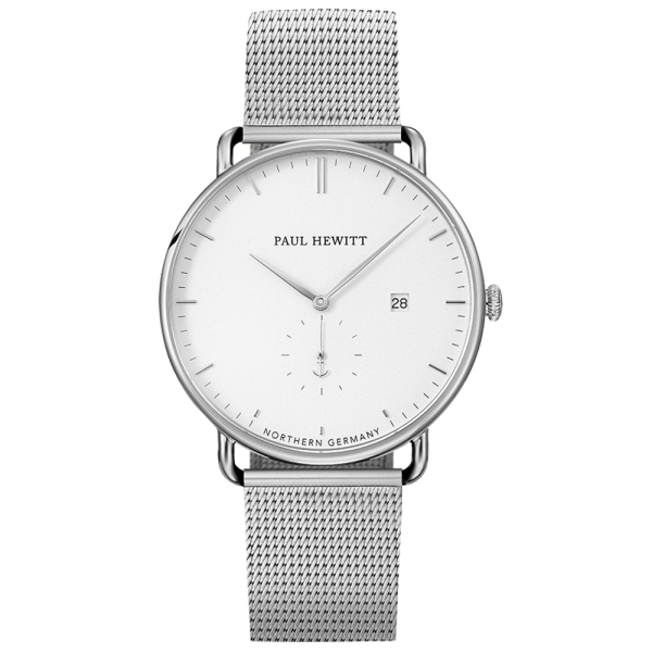 Reloj Grand Atlantic White Sand Plateado Mesh