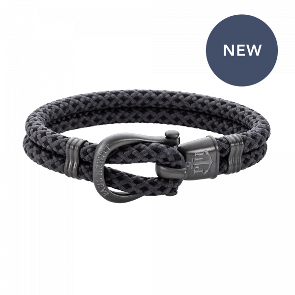 Bracelet Phinity Gun Metal Nylon Black-Grey