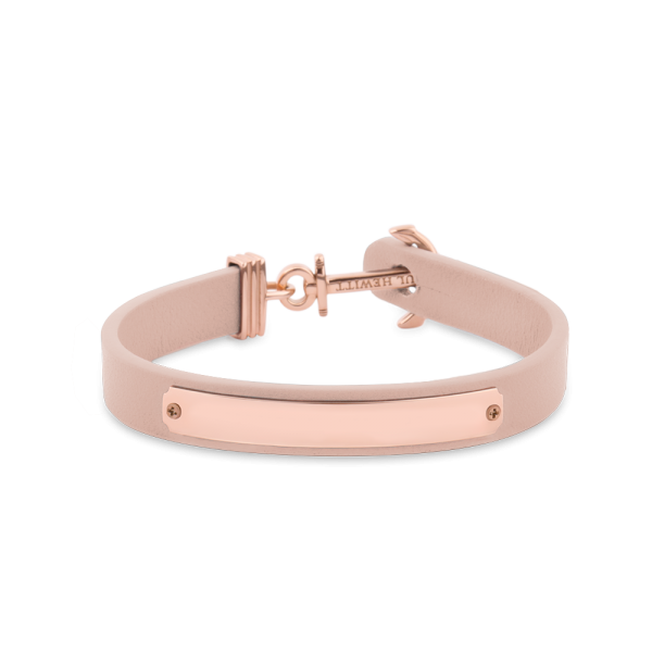 Anchor Bracelet Signum Rose Gold Leather Nude