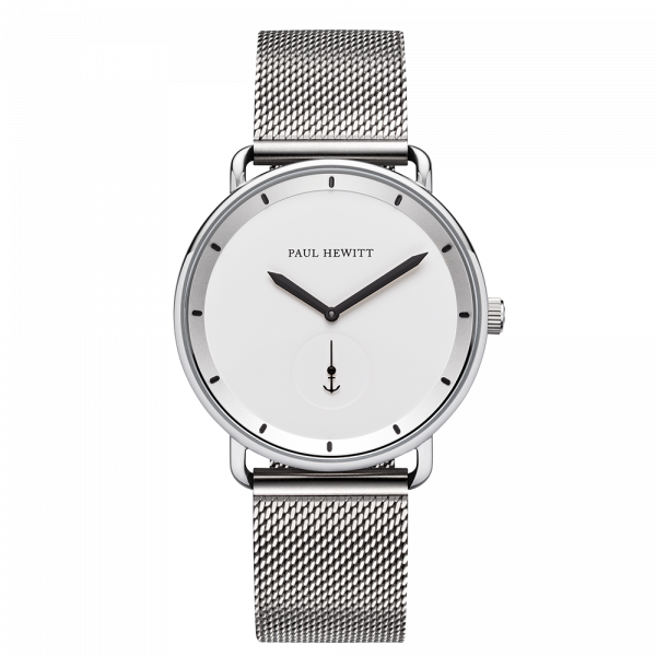 Watch Breakwater White Sand Silver Mesh
