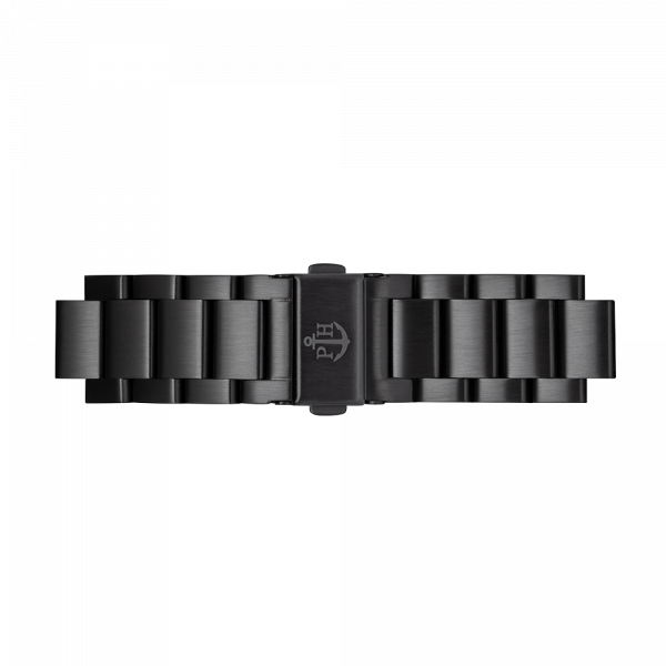 Watch Strap Metal Black Metal 20 mm