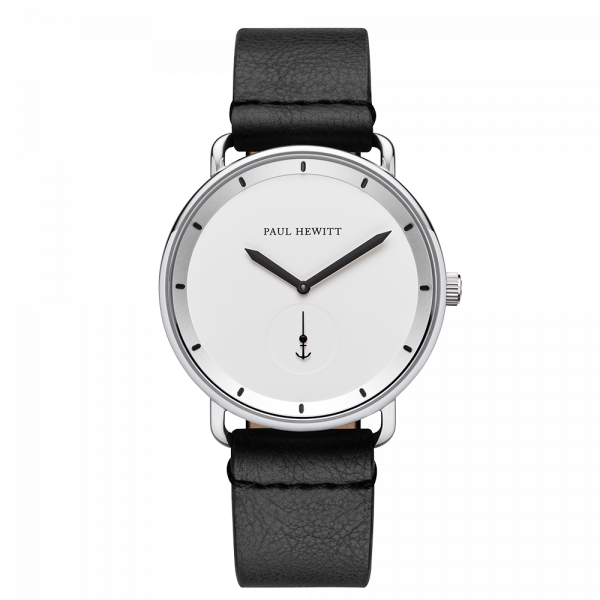 Montre Breakwater White Sand Argenté Cuir Pure Black