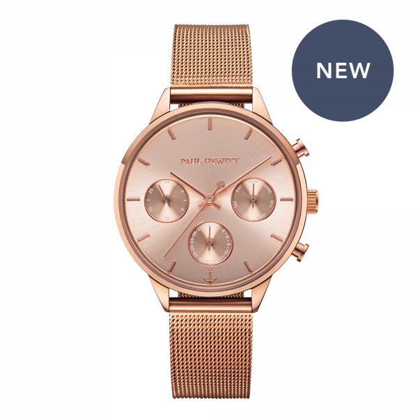 Watch Everpulse Rose Sunray Rose Gold Mesh