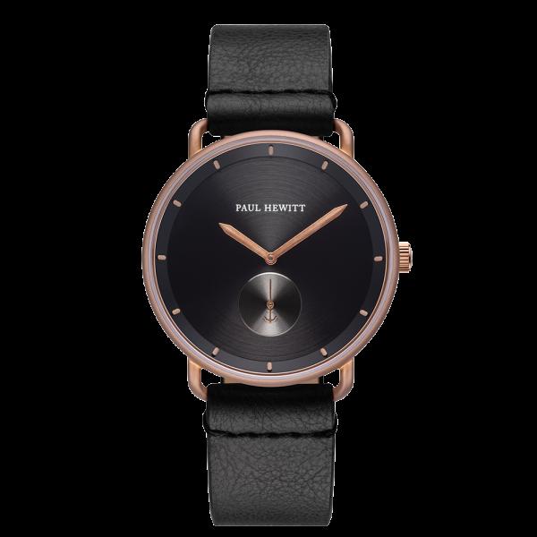 Watch Breakwater Black Sunray Bronze Leather Pure Black