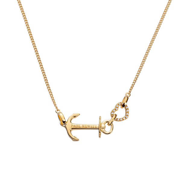 Necklace Anchor Heart Gold