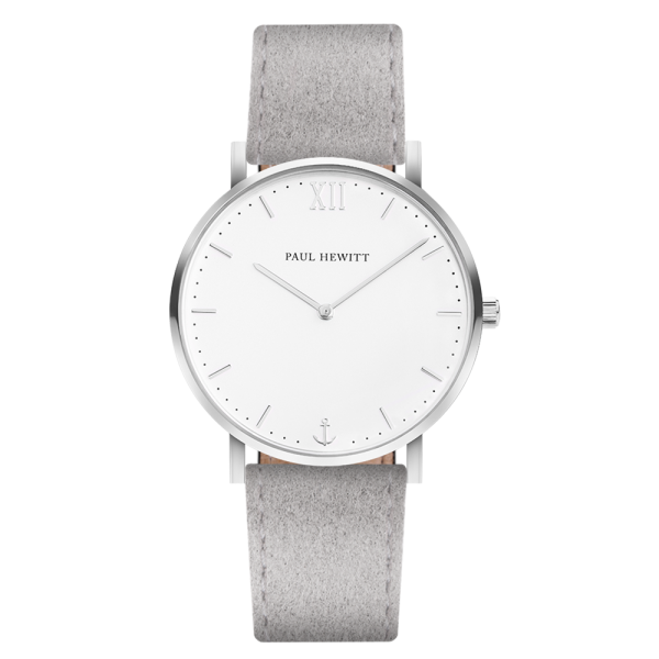 Watch Sailor White Sand Silver Alcantara Grey