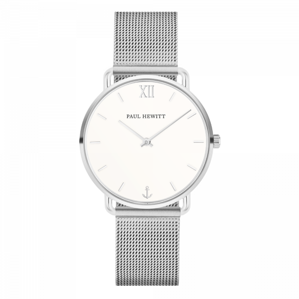 Watch Miss Ocean White Sand Silver Mesh