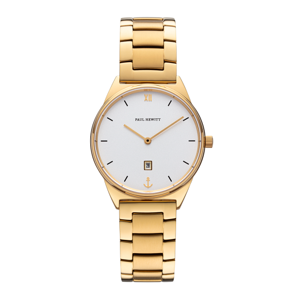 Watch Praia White Sand Gold Metal