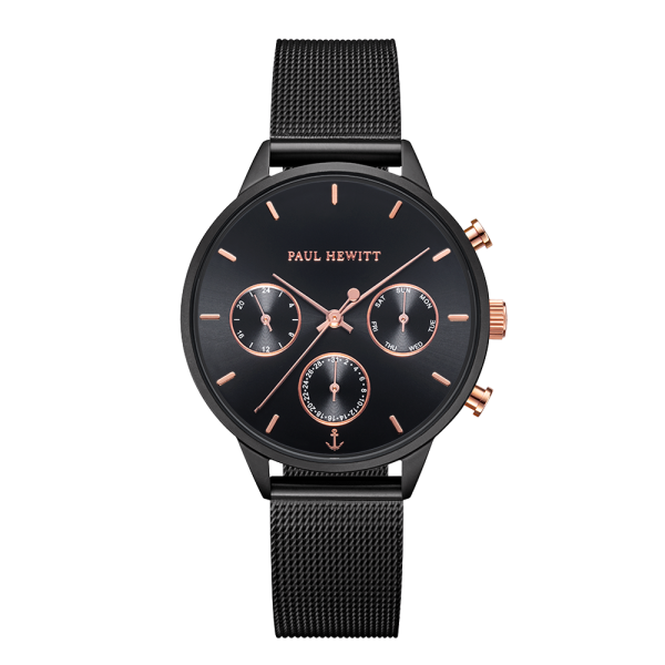 Watch Everpulse Black Sunray Black Mesh