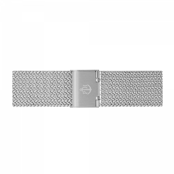 Watch Strap Mesh Woven Silver 20 mm