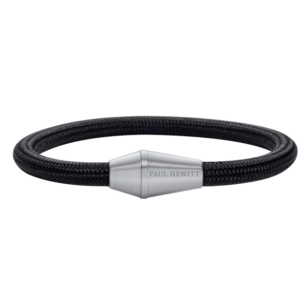 Bracelet Conic Silver Nylon Black