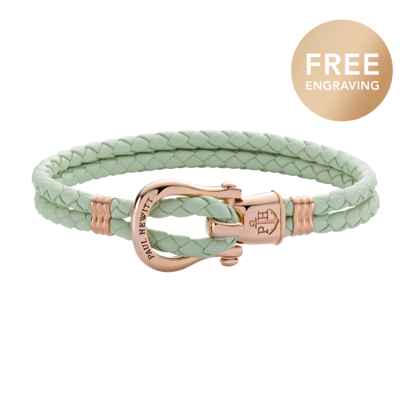 Bracelet Phinity Rose Gold Leather Mint